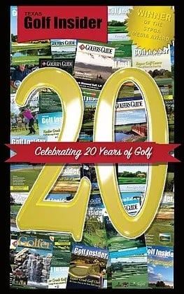 Texas Golf Insider 20th Anniversary Magazine Cover picture with article featuring CBD Houston